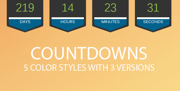 5 Color Styles With 3 Versions Of Countdowns - CodeCanyon Item for Sale