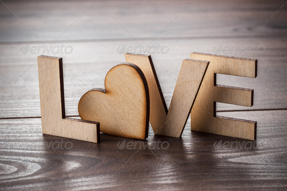 Word Love Made Up With Wooden Letters - Stock Photo - Images