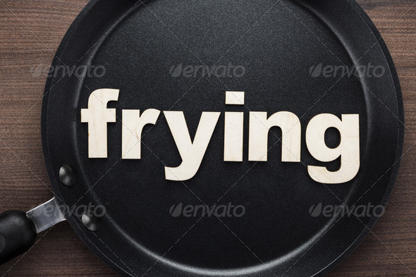Pan With Word Frying - Stock Photo - Images