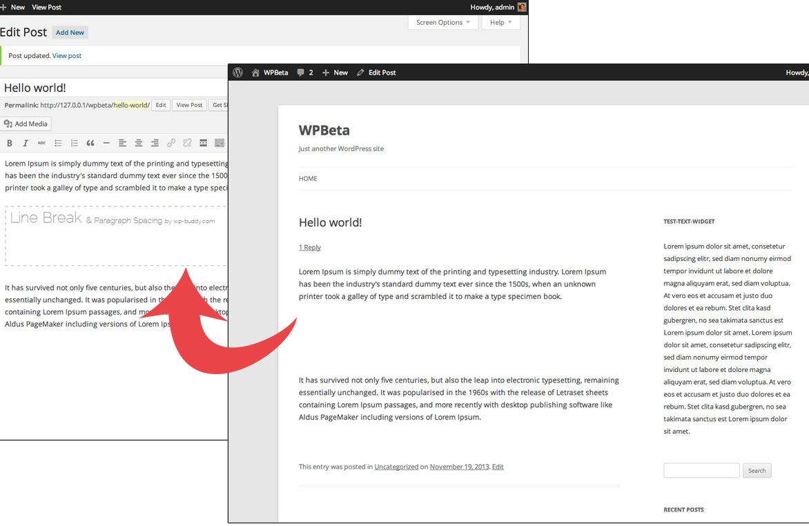 WordPress Paragraph Spacing & Line Break Plugin