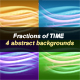 Fractions of Time | 4 abstract backgrounds - GraphicRiver Item for Sale