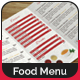 Tri-Fold Food Menu Design - GraphicRiver Item for Sale