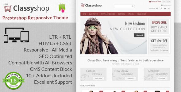 ClassyShop – Prestashop Responsive Theme