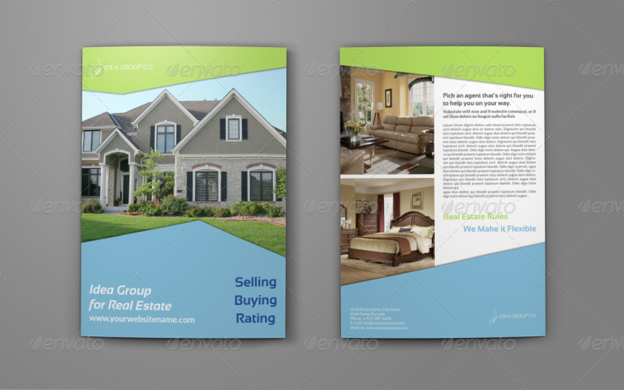 Real Estate Company Brochure Bi Fold Template Vol By Owpictures