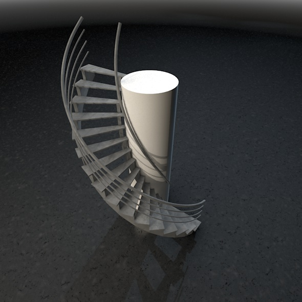 Spiral stairs - 3DOcean Item for Sale