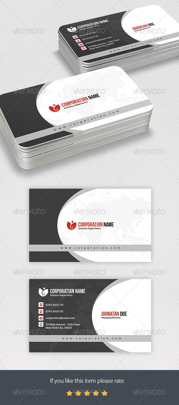 Corportae Business Card - Business Cards Print Templates