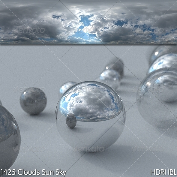 HDRI IBL 1425 Clouds Sun Sky - 3DOcean Item for Sale