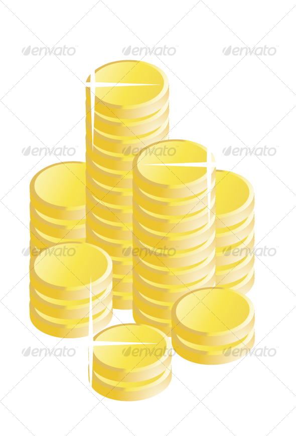 Gold Coins - Business Conceptual
