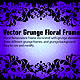 Grunge Floral Frame - GraphicRiver Item for Sale