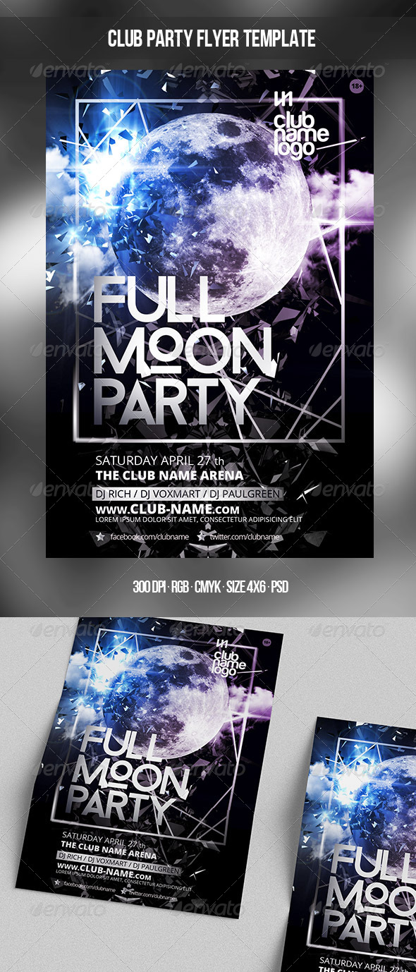 Full Moon Party Template - Clubs & Parties Events