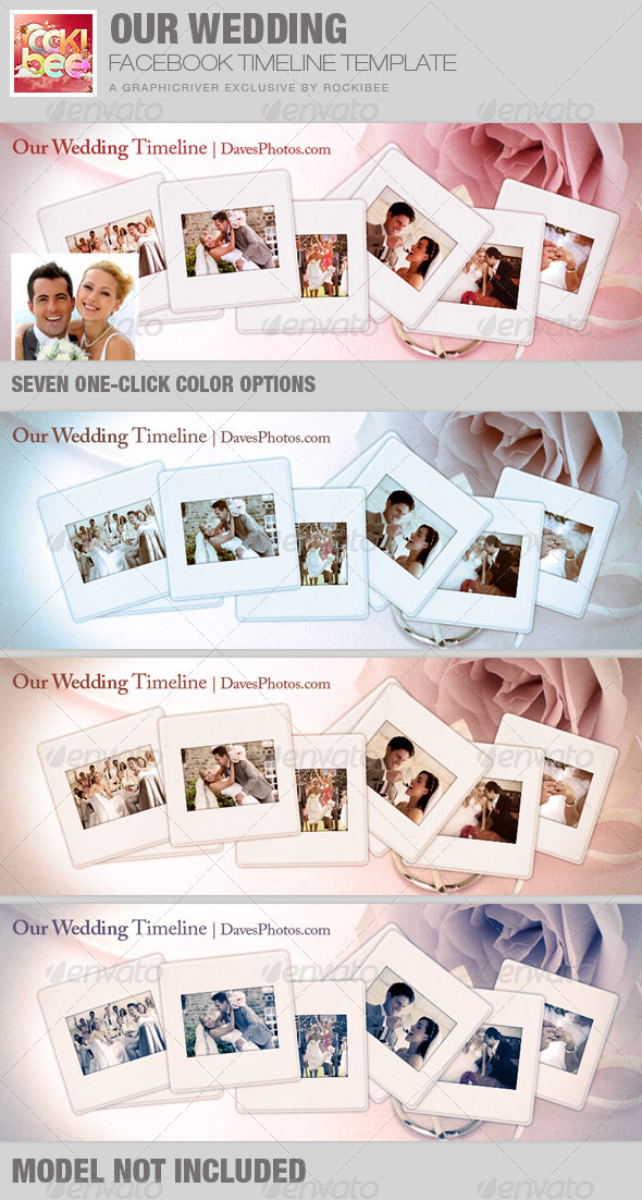 Graphicriver Book Cover Template : Our wedding facebook timeline cover template by rockibee