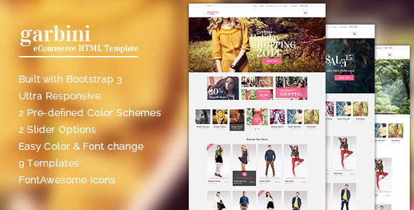 Garbini - Multipurpose HTML5 eCommerce Template - Shopping Retail