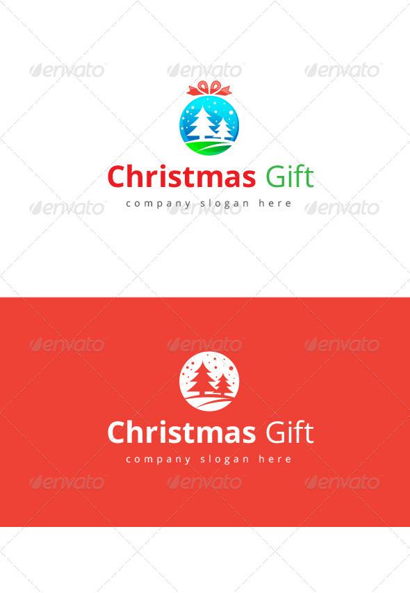 Christmas Gift Logo - Logo Templates