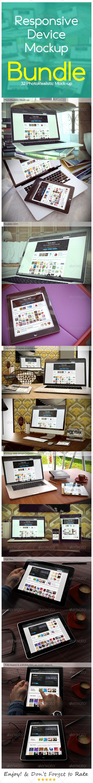 Responsive Device Mockup BUNDLE - Multiple Displays