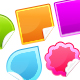 Six Glossy Photoshop Vector Stickers - GraphicRiver Item for Sale