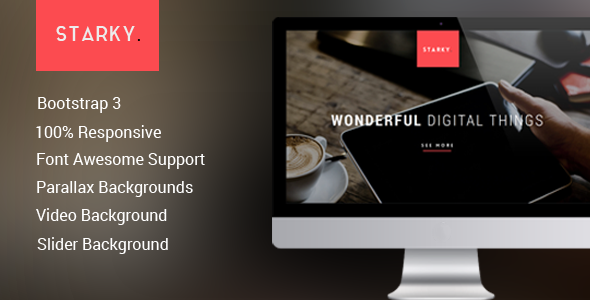 Starky – Responsive One Page  Parallax