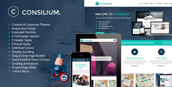 Image of Consilium - Multipurpose Creative Drupal Theme