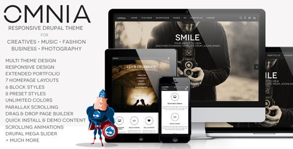 Image of Omnia - Multi Purpose Agency Drupal Theme