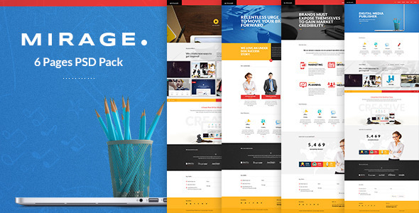 Mirage - Multipages PSD Template - Creative PSD Templates