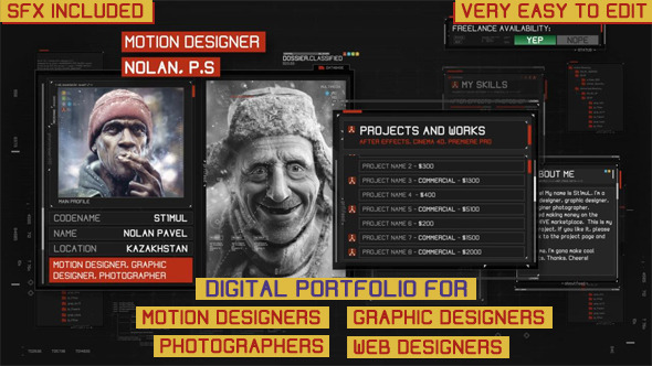 Digital Portfolio By StimulNolan VideoHive - Digital portfolio template