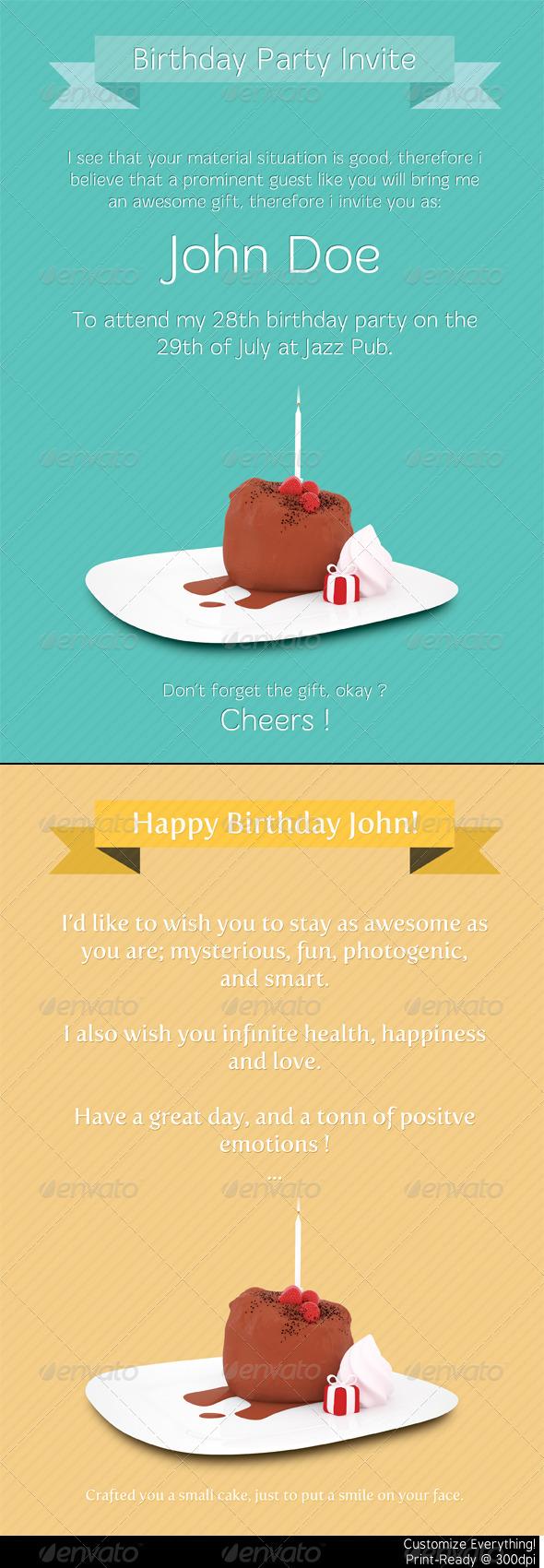 Birthday Print Templates - Birthday Greeting Cards
