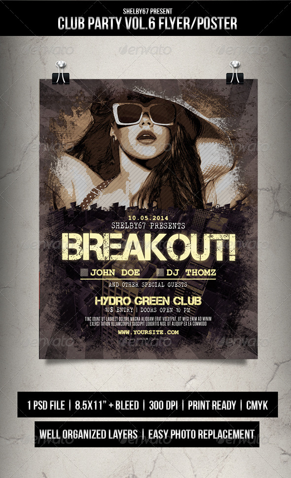 Club Party Flyer / Poster Vol.6  - Events Flyers