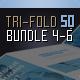 Brochure Bundle Tri-Fold Square Series 4-6 - GraphicRiver Item for Sale