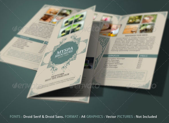 Spa Brochure Template By Blogankids | Graphicriver