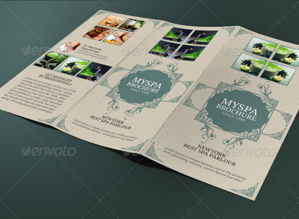 Spa Brochure Template By BloganKids GraphicRiver - Spa brochure templates