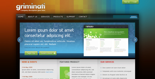 Griminati Business Website Layout - Business Corporate