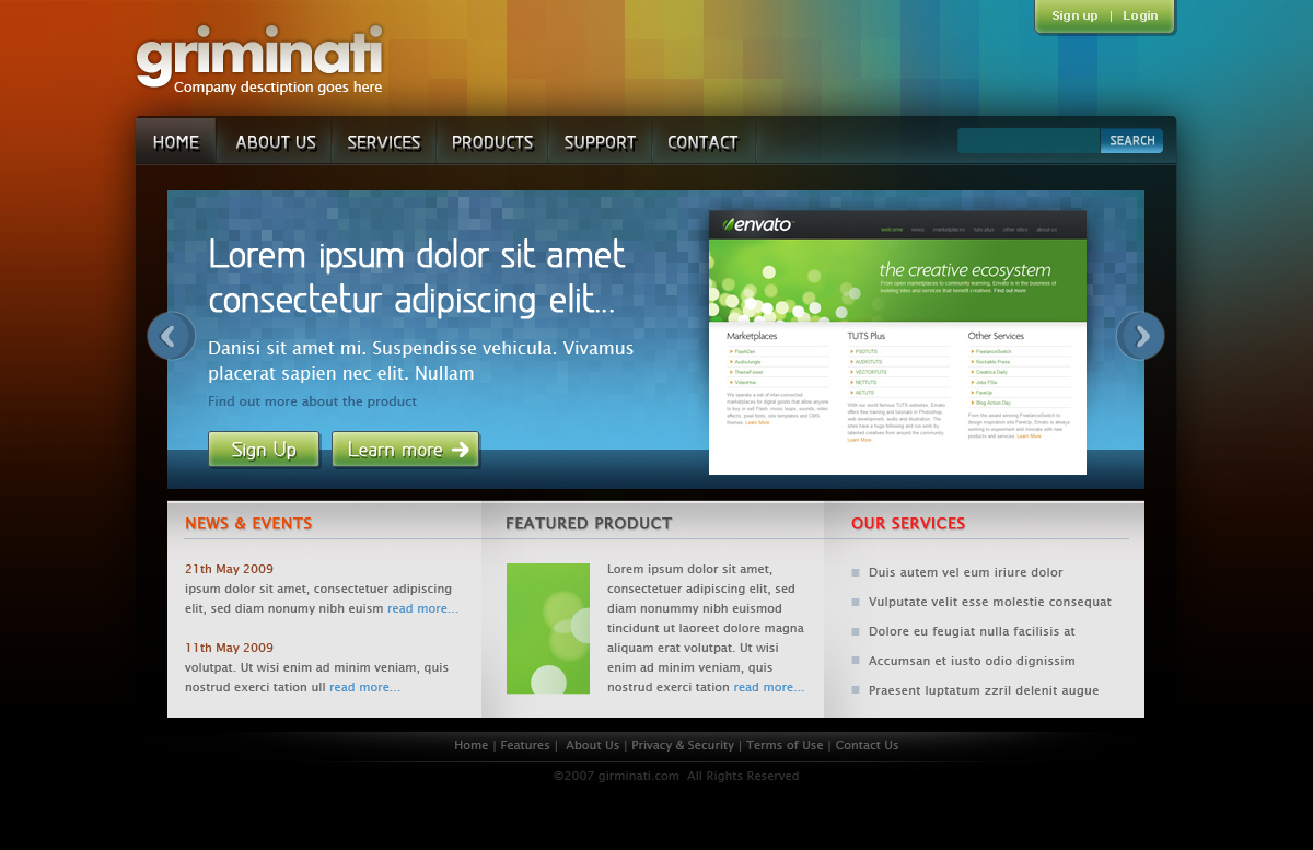 Free Download Griminati Business Website Layout Nulled Latest Version