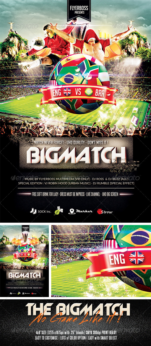 The Bigmatch - Events Flyers