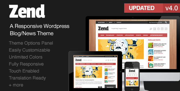 Zend - Responsive Blog/Magazine Wordpress theme - Blog / Magazine WordPress
