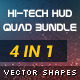Hi-Tech HUD Quad Bundle - GraphicRiver Item for Sale