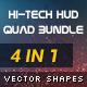 Hi-Tech HUD Quad Bundle - GraphicRiver Item for Sale