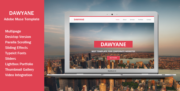 Dawyane - Multipage Muse Template - Corporate Muse Templates