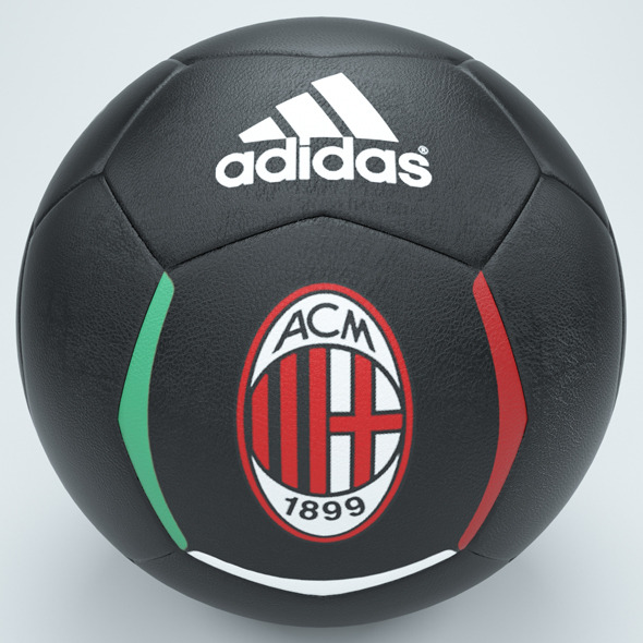 Ac milan football black - 3DOcean Item for Sale