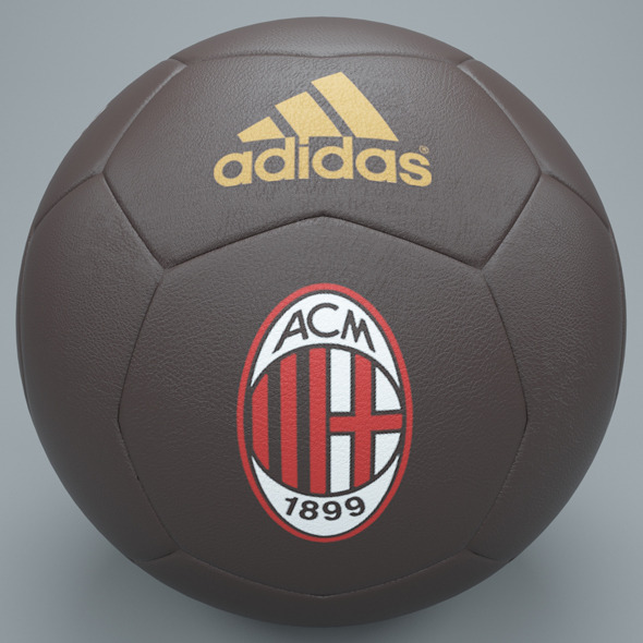 Brown ac milan football - 3DOcean Item for Sale