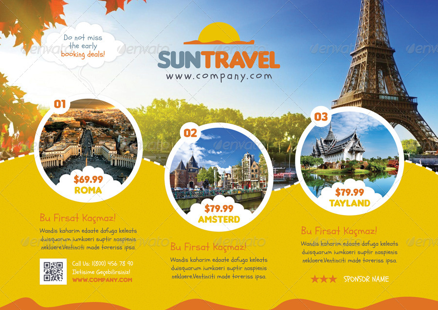 Travel Tour Flyer Templates By Grafilker02 Graphicriver