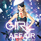 GIRL Affair party flyer - GraphicRiver Item for Sale