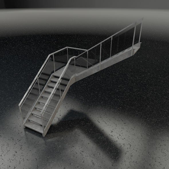 Stairs L-shape. - 3DOcean Item for Sale