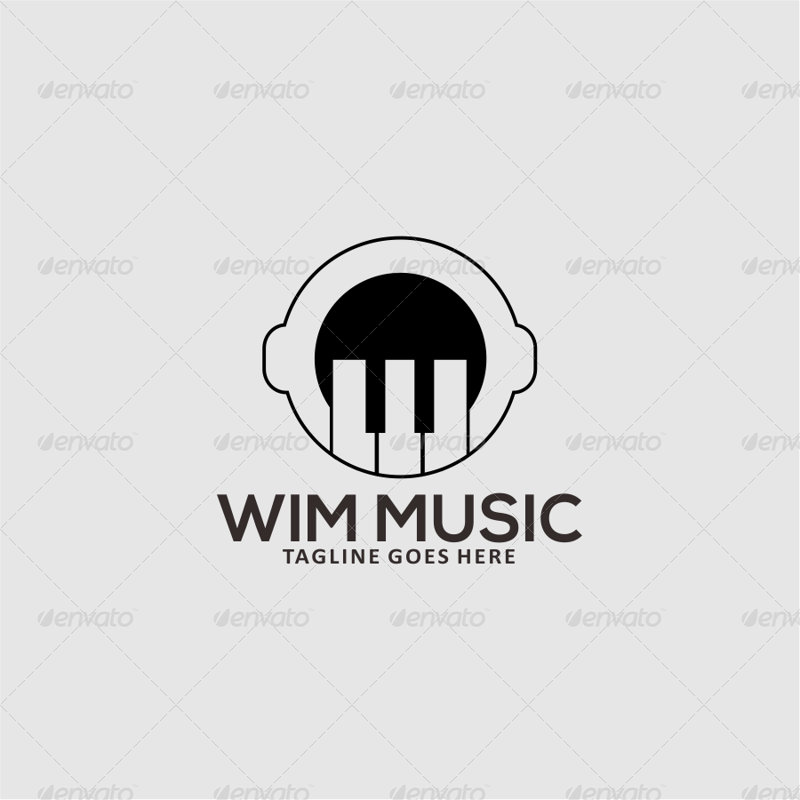 Modern Book Logo Collection: Music Studio Logo Template By Riffs_design
