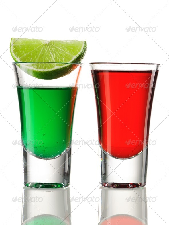 Shot drink cocktails - Stock Photo - Images