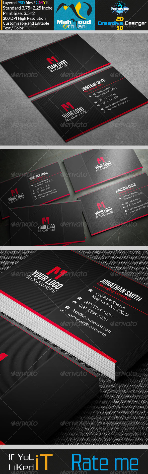 Simple Business Card V20 - Corporate Business Cards