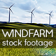 Windfarm - 3 Wind Turbines on a Green Landscape - VideoHive Item for Sale
