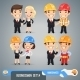 Businessmen Cartoon Characters Set1.4 - GraphicRiver Item for Sale