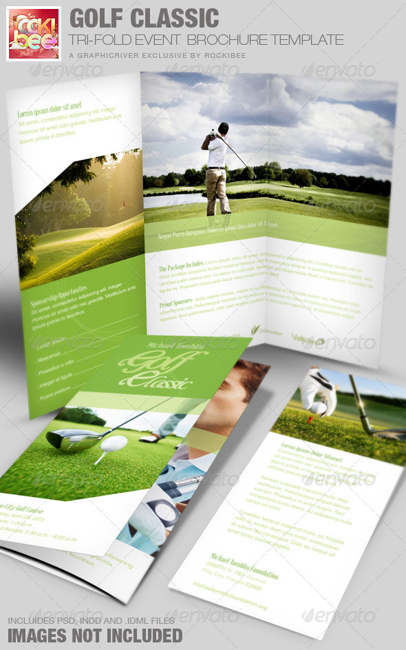 Golf Classic Event Tri Fold Brochure Template By Rockibee Graphicriver