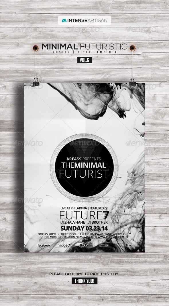 Minimal - Futuristic Poster | Flyer V.6 - Clubs & Parties Events