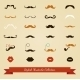 Colorful Mustache Icon Set - GraphicRiver Item for Sale