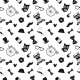 Hipster Black and White Seamless Pattern - GraphicRiver Item for Sale